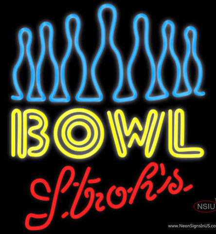 Strohs Ten Pin Bowling Neon Sign