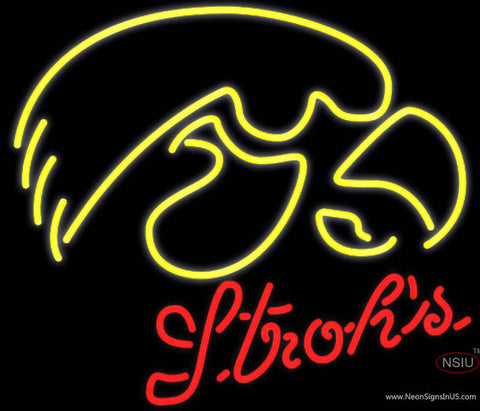 Strohs UNIVERSITY Of Iowa Neon Sign