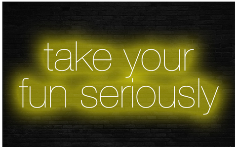 take your fun seriously Real Neon Glass Tube Neon Signs