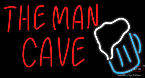 The Man Cave Beer Glass Neon Beer Sign