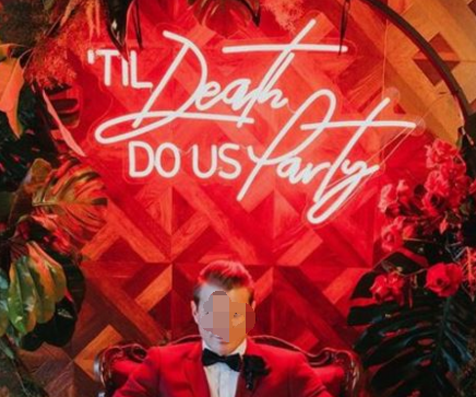 til death to us party Neon Signs