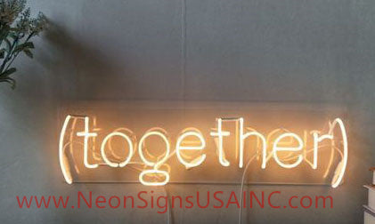 Together Wedding Home Deco Neon Sign
