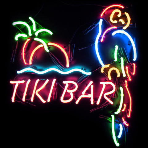 Tiki Beer Bar Neon Light Sign For Sale
