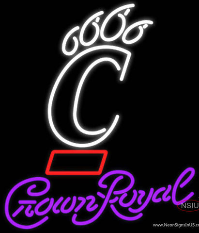 UNIVERSITY Crown Royal Bearcats Neon Sign