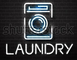 laundry neon sign