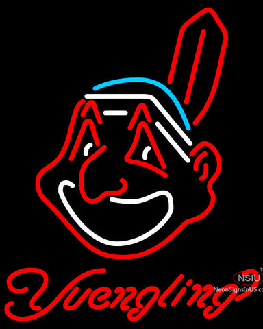 Yuengling Cleveland Indians MLB Beer Neon Sign