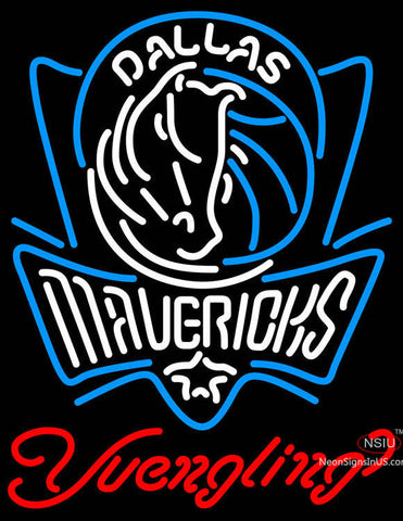 Yuengling Dallas Mavericks NBA Beer Neon Sign