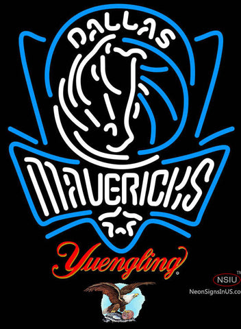 Yuengling Dallas Mavericks NBA Neon Sign