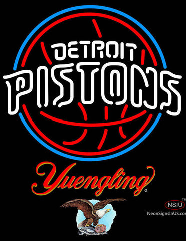 Yuengling Detroit Pistons NBA Neon Sign