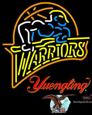 Yuengling Golden St Warriors NBA Neon Sign