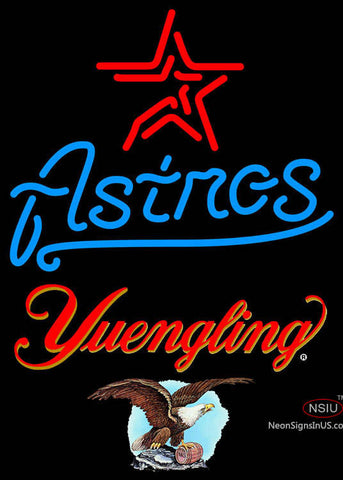Yuengling Houston Astros MLB Neon Sign