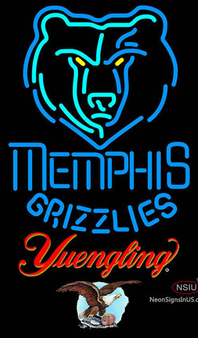Yuengling Memphis Grizzlies NBA Neon Sign