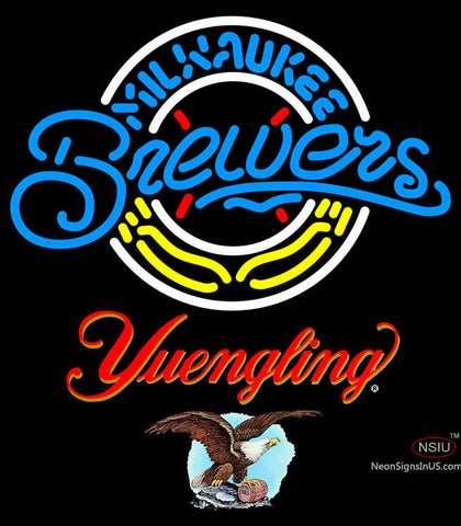 Yuengling Milwaukee Brewers MLB Neon Sign