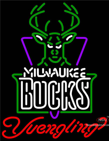 Yuengling Milwaukee Bucks NBA Beer Neon Sign