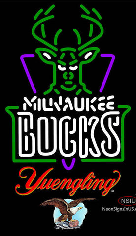 Yuengling Milwaukee Bucks NBA Neon Sign