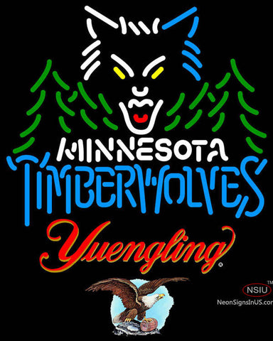 Yuengling Minnesota Timber Wolves NBA Neon Sign