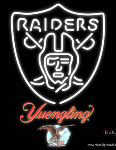 Yuengling Oakland Raiders NFL Neon Sign