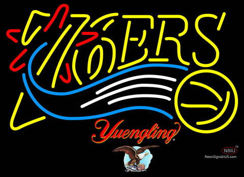 Yuengling Philadelphia 7ers NBA Neon Sign
