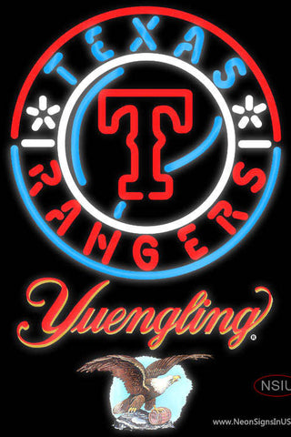 Yuengling Texas Rangers MLB Neon Sign