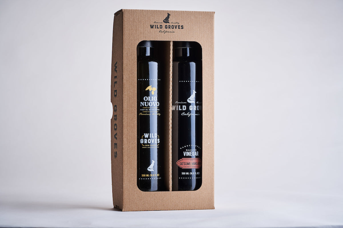 Mandarin Balsamic and Extra Virgin Olive Oil Gift Set