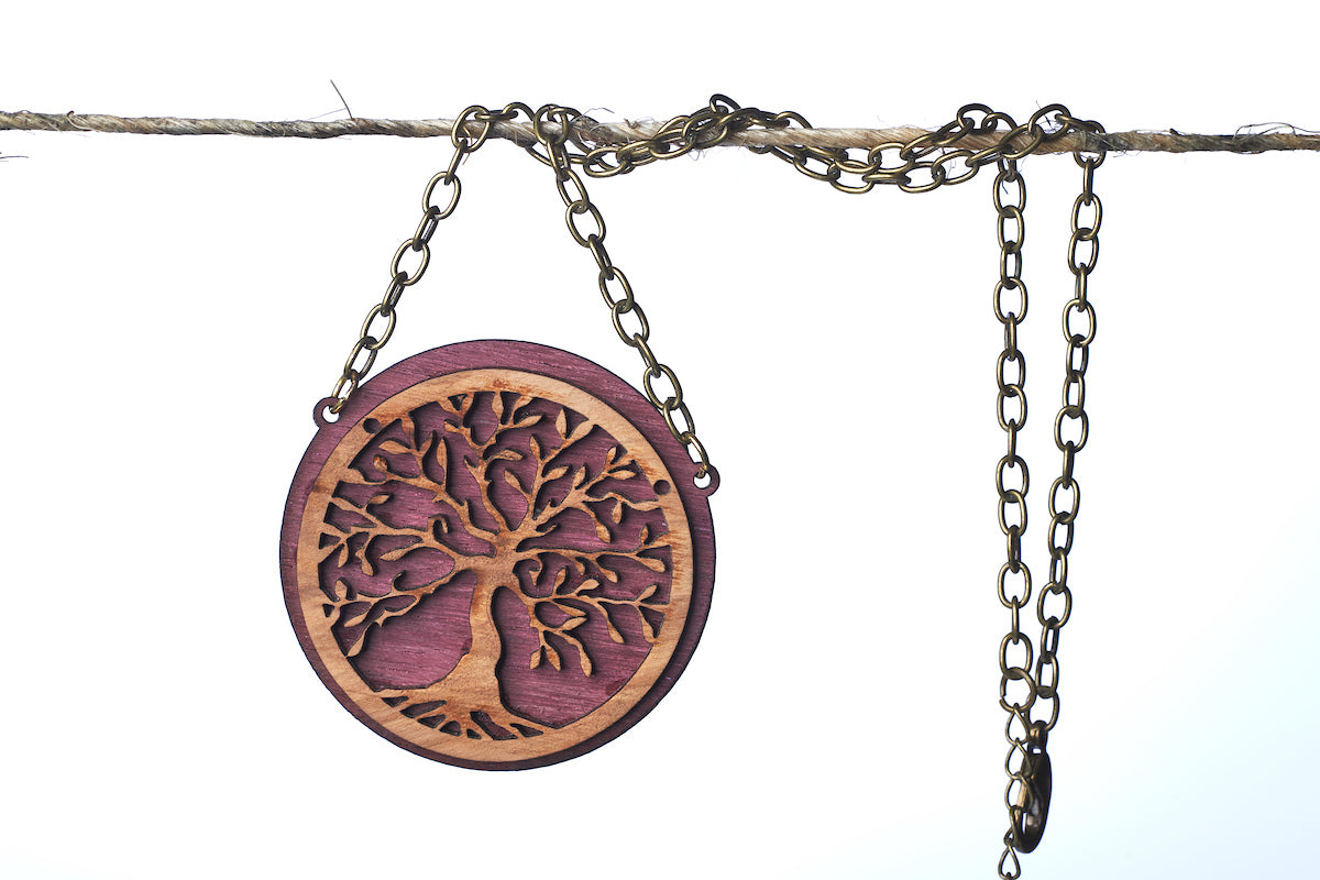 Wild Olive Tree Circle Necklace