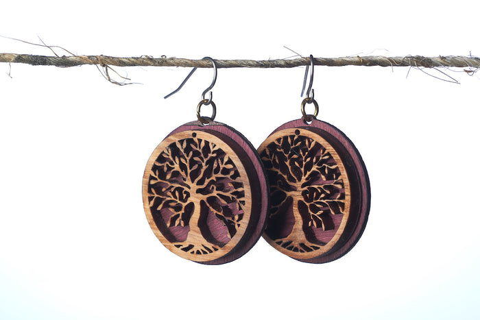 Wild Olive Tree Circle Earrings