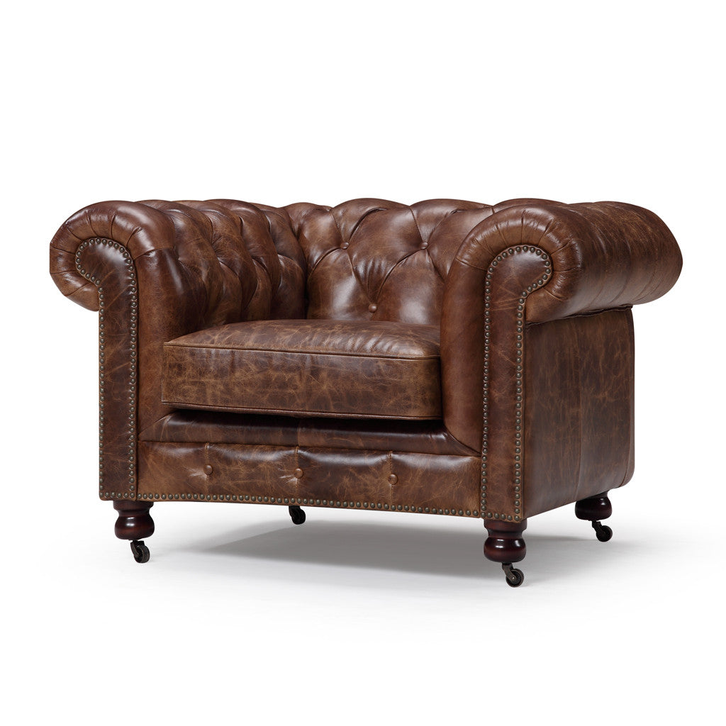 ... Kensington Chesterfield Leather Chair   Rose And Moore HK ...