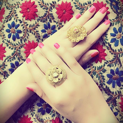 Karatcart's Gold Plated Cocktail Rings are specially designed for this Festive Season to go with Sarees and Ethic wear.