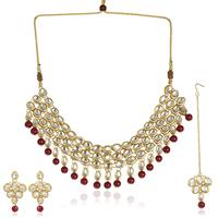 Designer Goldplated Kundan Jewellery Sets available in Long Necklace, Rani Haar, Chokar, Temple Jewellery, Coin Jewellery, Bridal Jewellery Sets and more. Kundan Earrings, Jhumki & Chandbali also available.