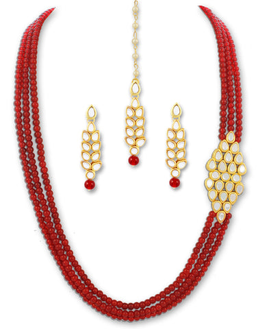 Karatcart 22K GoldPlated Antique origings Kundan Necklace For Women