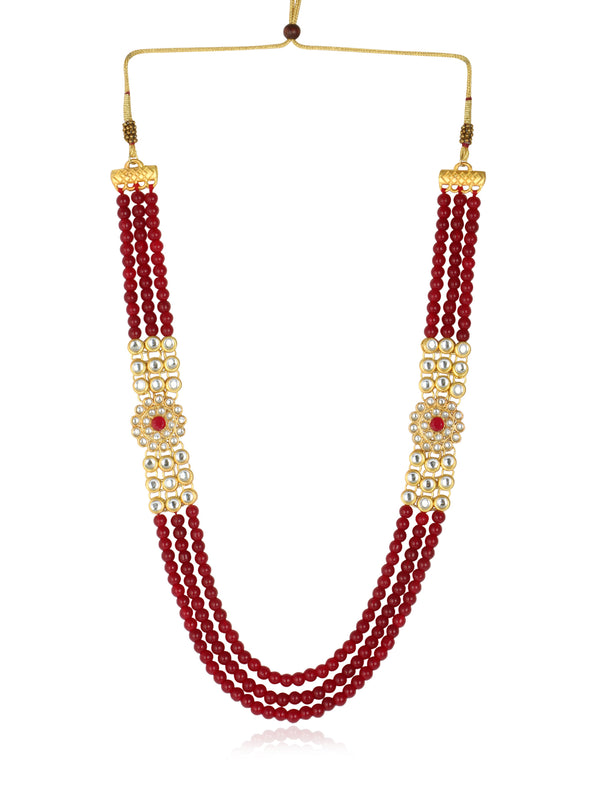22K GoldPlated Antique Rani Haar Kundan Necklace for Women