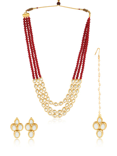 22K GoldPlated Kundan Rani Haar Necklace