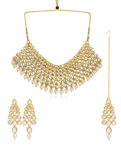 Karatcart Bridal Choker Kundan Necklace set for women
