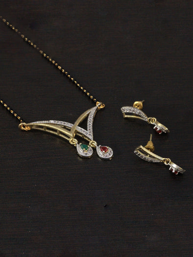 American Diamond Mangalsutra and Earrings