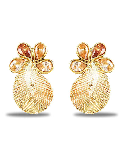 Karatcart Gold Plated Kundan Stud Earrings