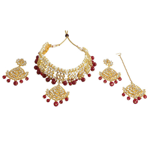 Karatcart 22K GoldPlated Kundan Necklace for Women