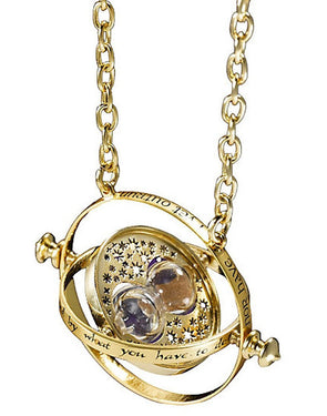 Women's Metal Chain Harry Potter Sand Timer Necklace