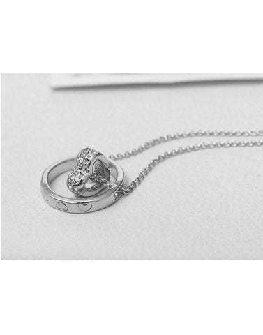 Platinum Plated Metal Long Chain Necklace