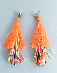 Multicoloured Tassel Earrings