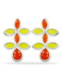 ellow and Orange Dangle Earrings