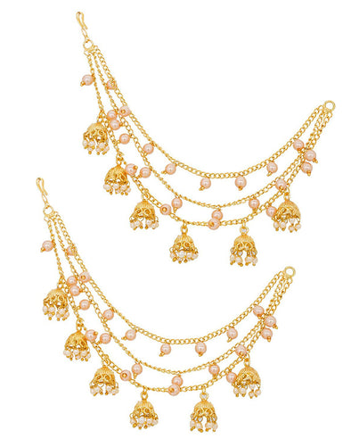 Fashion Jewellery GoldPlated Jhumki Drop Kaanchain