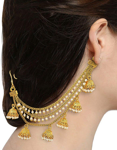 Karatcart Fashion Jewellery GoldPlated Long Hair Chain For Women