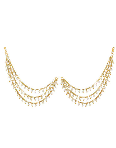 Fashion Jewellery GoldPlated Multi-Layered Long Hair Chain