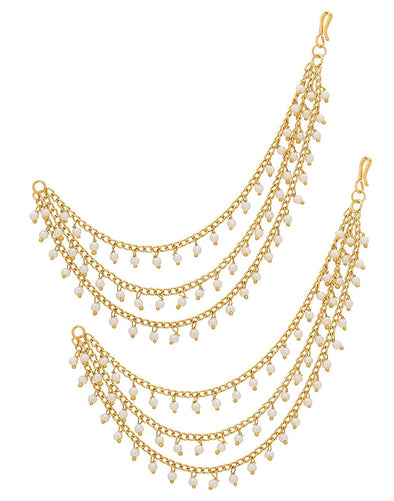Fashion Jewellery GoldPlated Multi-Layered Kaanchain