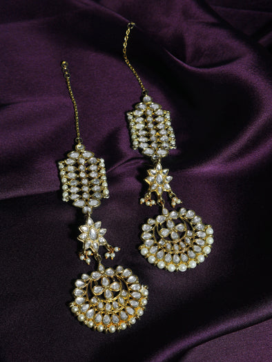 Kundan Gold Kaanchain Earrings