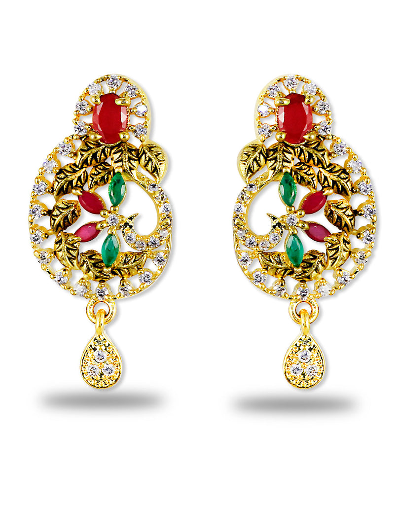 Multi Colour Antique Earrings