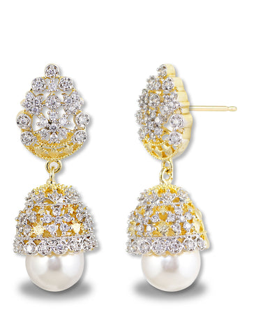 GoldPlated American Diamonds Jhumki