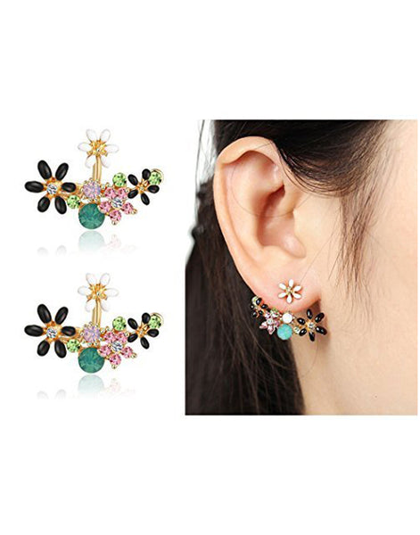 GoldPlated Multicolour Crystal Stylish Stud Earrings