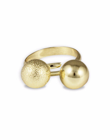 Metal Gold Mickey Mouse Adjustable Ring