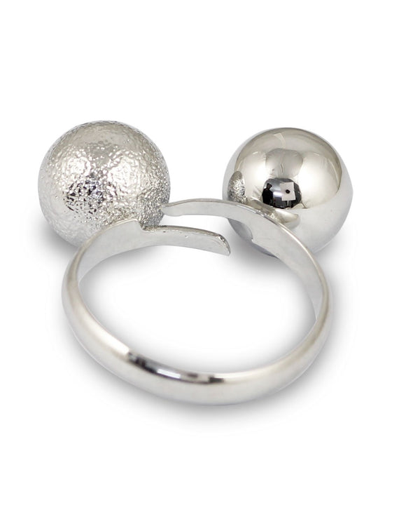 Silver Mickey Mouse Adjustable Ring